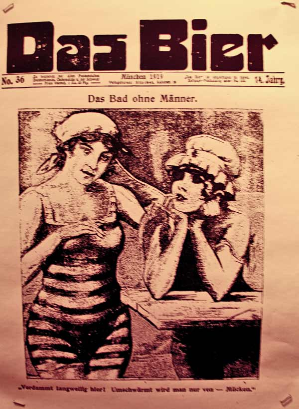 """Frauen auf der Titelseite der Zeitschrift """"Das Bier"""""""