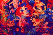 künstlerisches Bild über Hexen